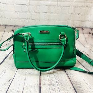 Dana Buchman Leather Satchel Green Purse